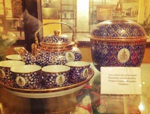 Teapot set at Tan Tock Seng Hospital Museum